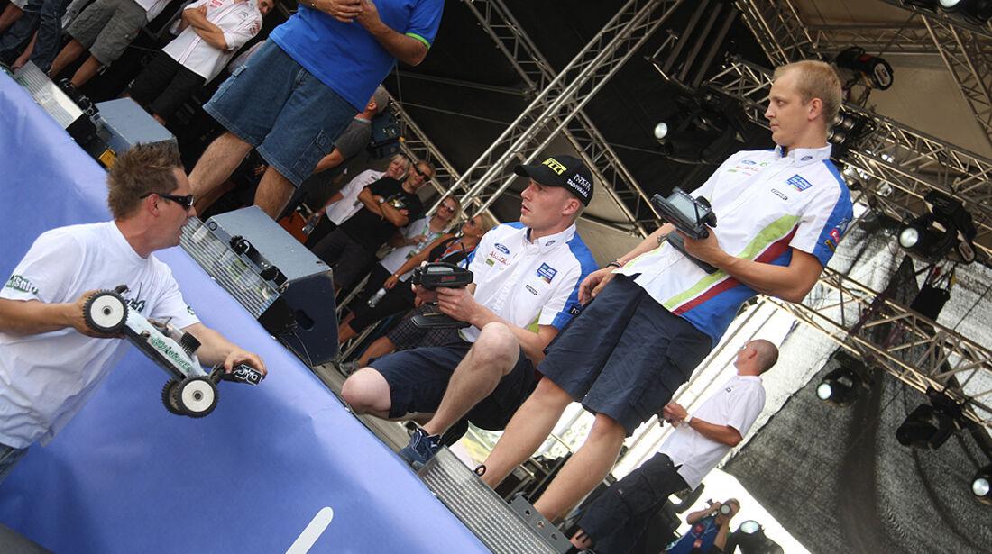 Rallye Finnland 2010, Hirvonen, Latvala, Modellauto