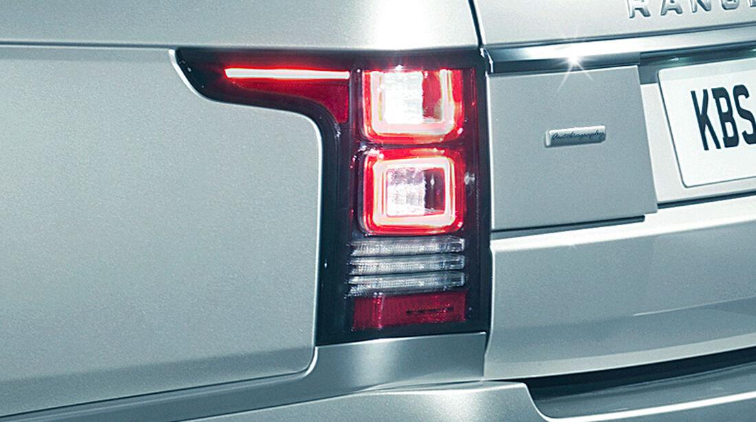 Range Rover 2012, Innenraum, Rücklicht