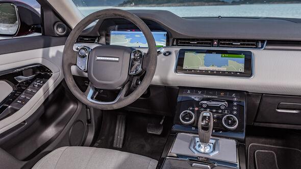 range rover evoque 2019 innenraum cockpit