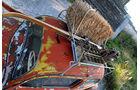 Rat Style Käfer - Dachgepäckträger mit Skiern, Strohballen, Bierkiste und Milchkanne