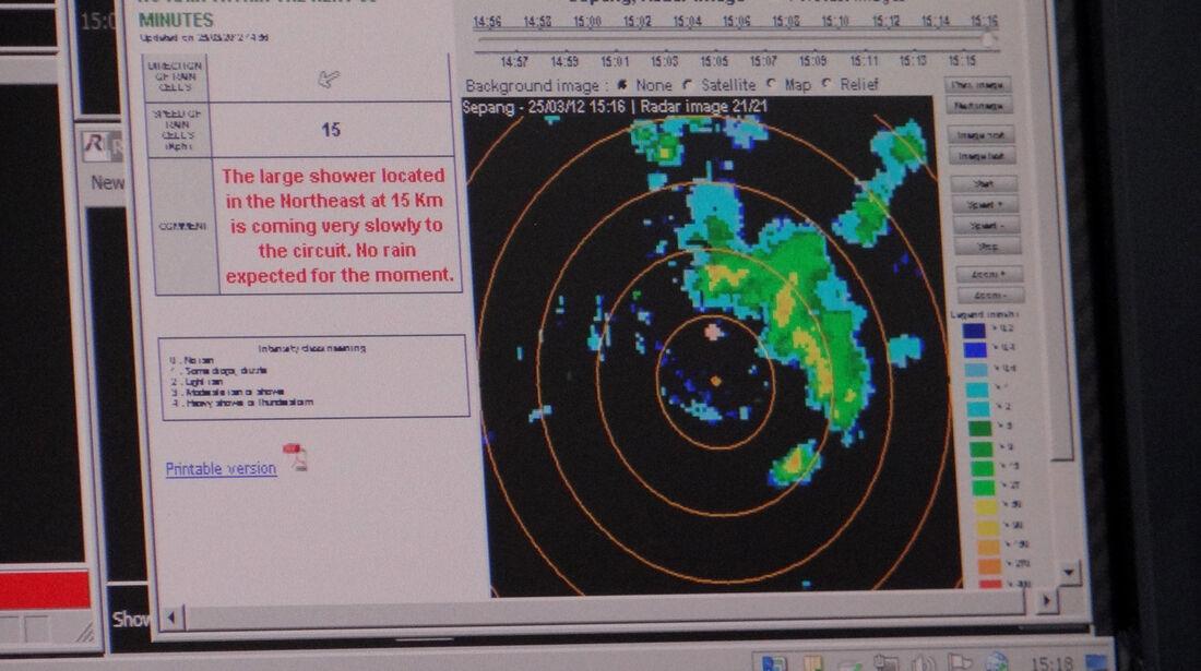 Regen Radar GP Malaysia 2012