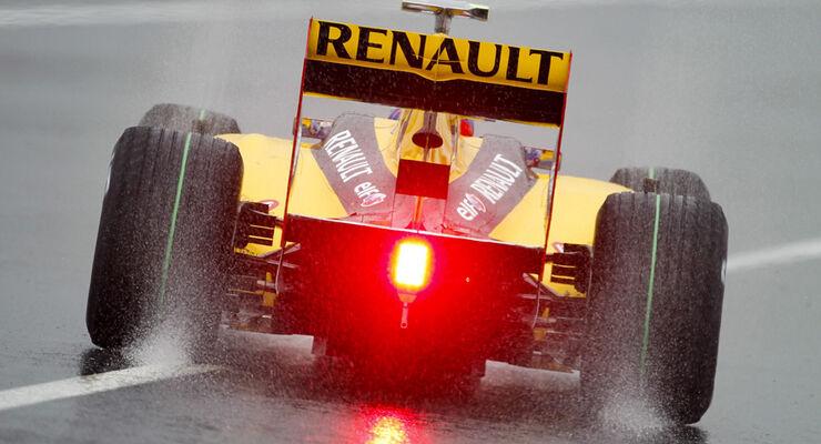 Regen beim GP Japan