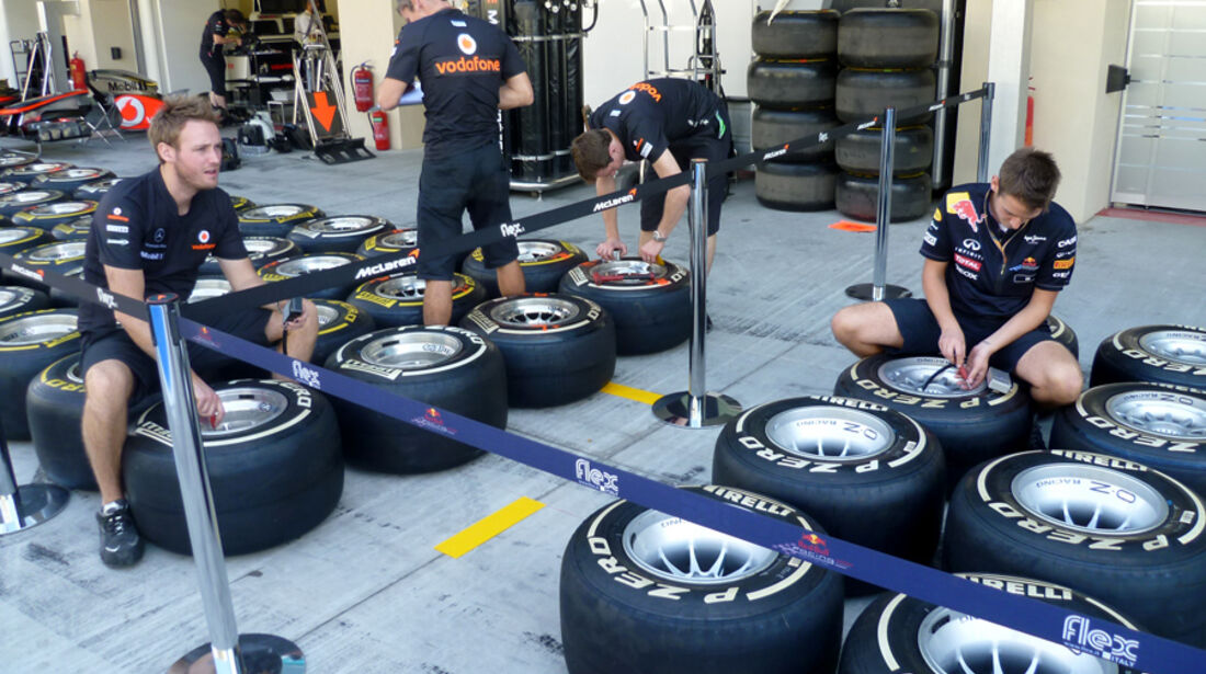 Reifen-Vorbereitung - GP Abu Dhabi - 10. November 2011