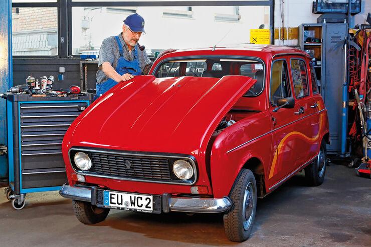 Renault 4, Frontansicht, Werkstatt