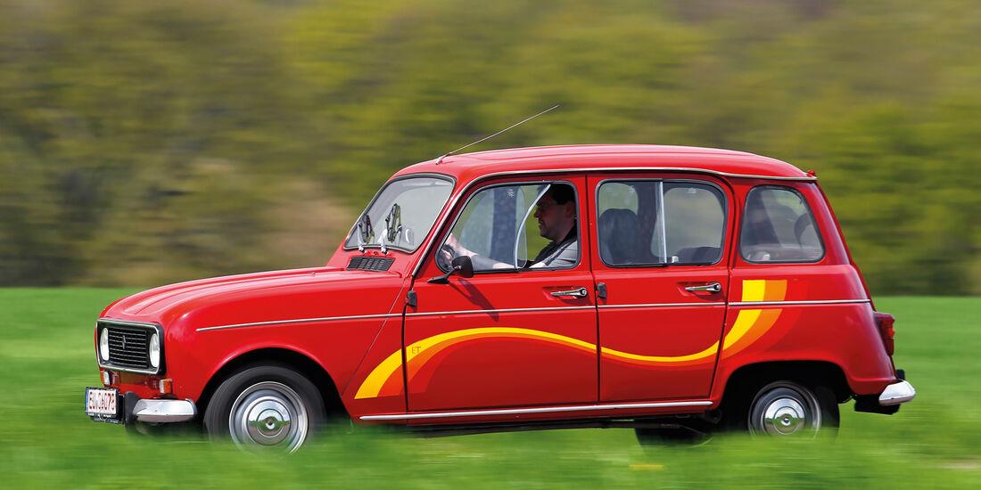 Renault 4, Seitenansicht