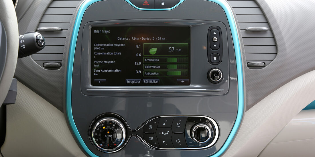 Renault Captur, Mittelkonsole, Display