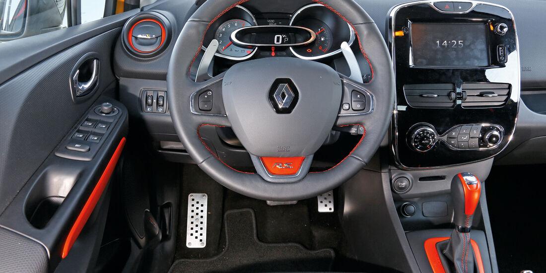 Renault Clio RS, Cockpit, Lenkrad