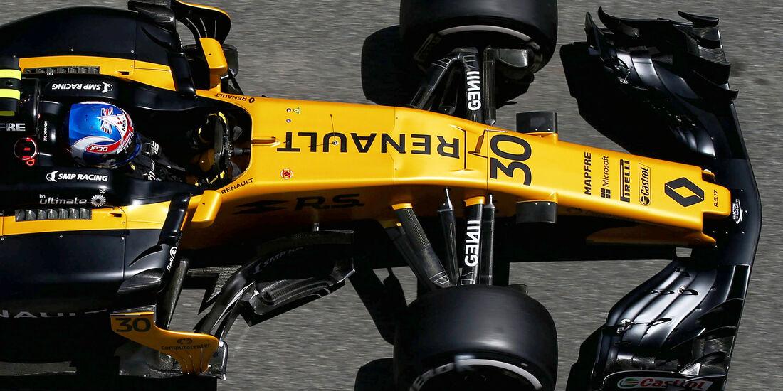 Renault - F1-Abmessungen - 07/2017
