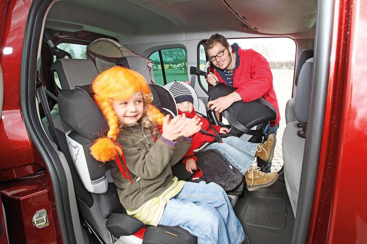Renault Kangoo dCi 85, Kindersitz, Fondsitz