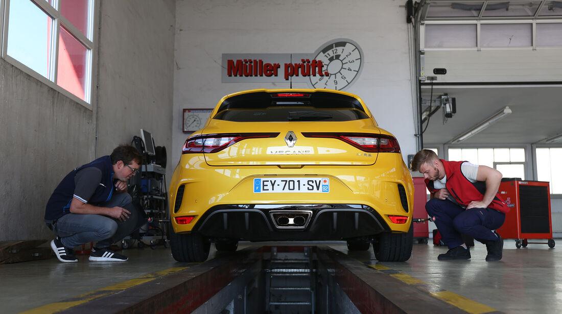 Renault Megane R.S., Werkstatt