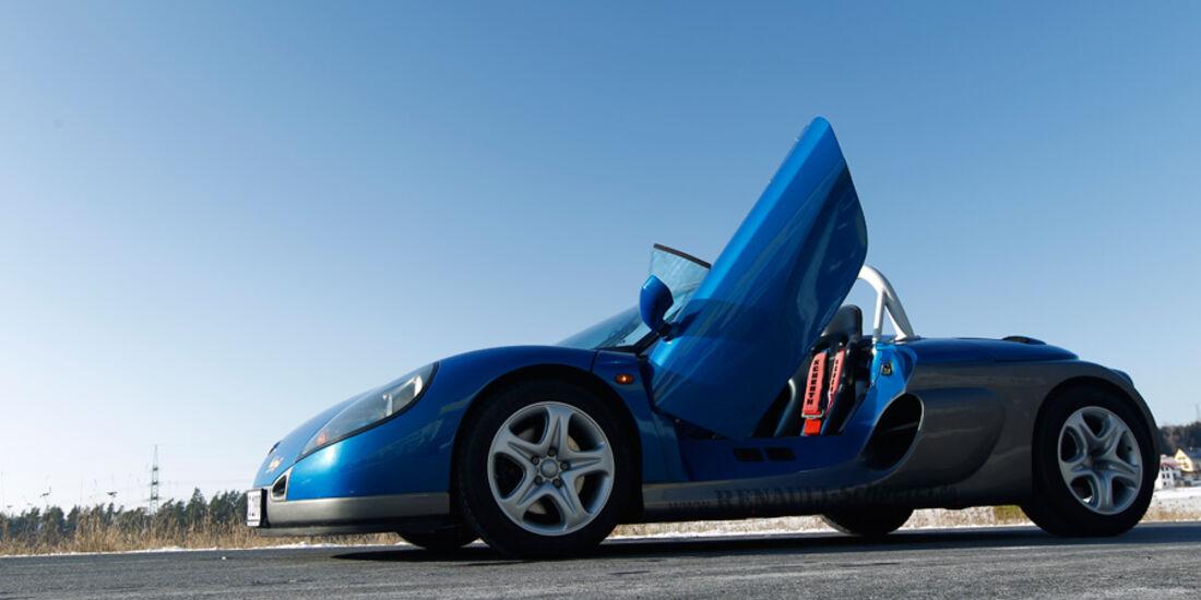 Renault Sport Spider, Seitenansicht, Scherentür