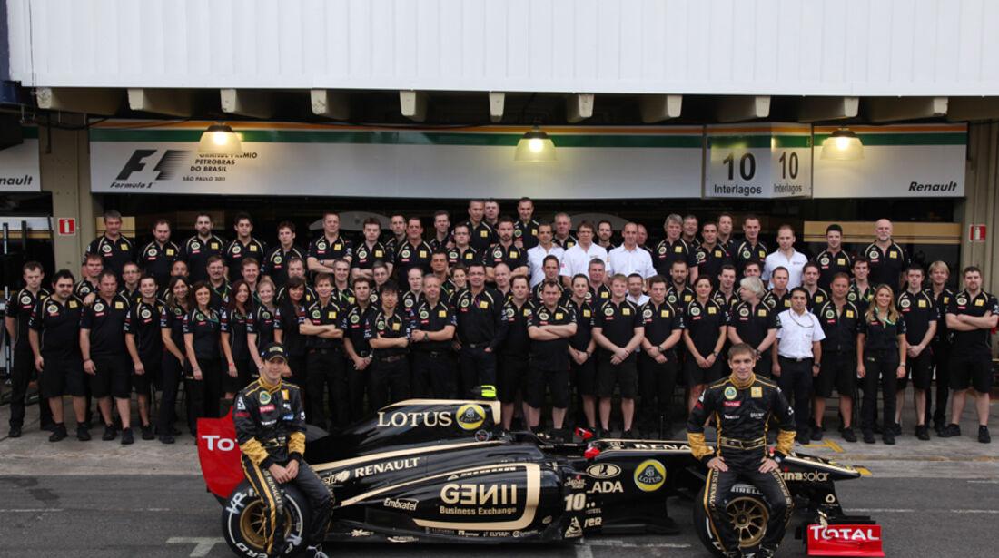 Renault Teamfoto GP Brasilien 2011