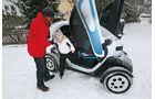 Renault Twizy, Seitenansicht, Aussteigen