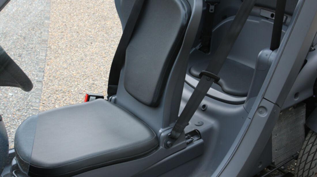 Renault Twizy, Seitenansicht, Sitze