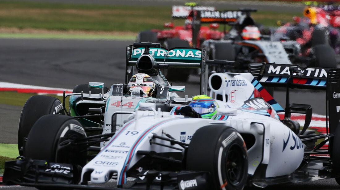Restart - Massa - Hamilton - GP England - Silverstone - Rennen - Sonntag - 5.7.2015