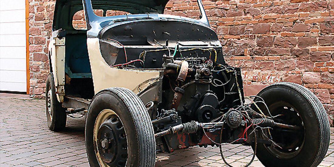 Restaurierungsobjekt BMW 321 - Überreste