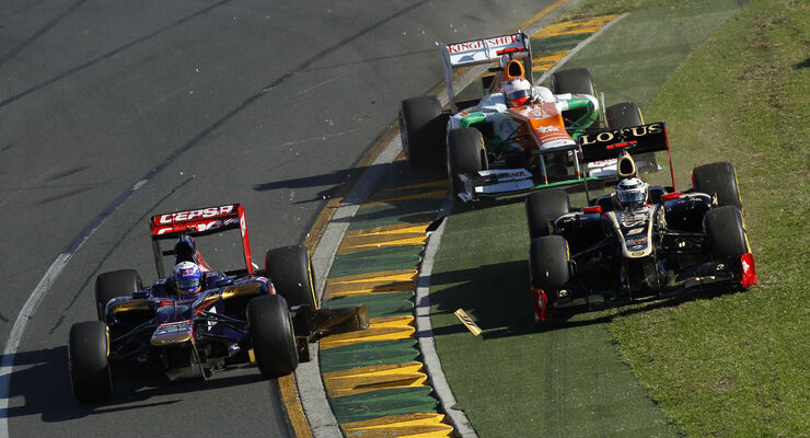 Ricciardo, Räikkönen & Di Resta - GP Australien 2012
