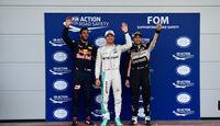 Ricciardo, Rosberg & Perez - Formel 1 - GP Aserbaidschan - Baku - 18. Juni 2016