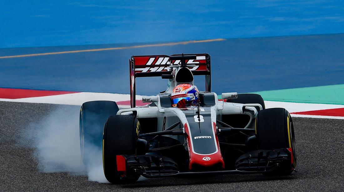 Romain Grosjean - HaasF1 - Formel 1 - GP Bahrain - 1. April 2016