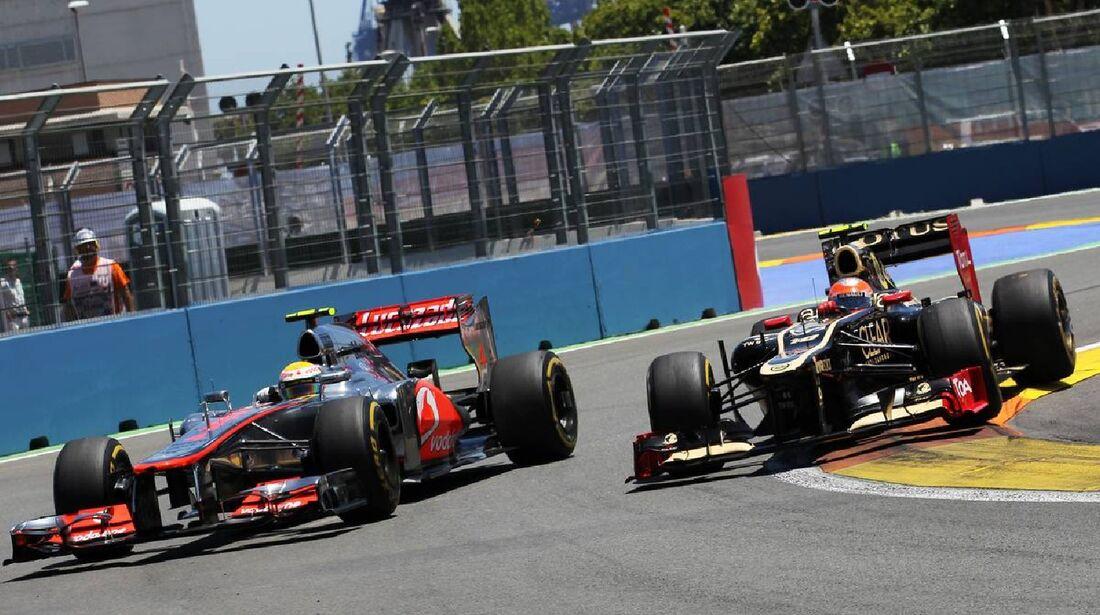 Romain Grosjean - Lews Hamilton  - Formel 1 - GP Europa - 24. Juni 2012