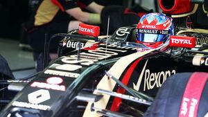 Romain Grosjean - Lotus - Formel 1 - Bahrain - Test - 1. März 2014