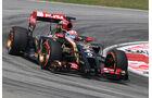 Romain Grosjean - Lotus - Formel 1 - GP Malaysia - Sepang - 28. März 2014