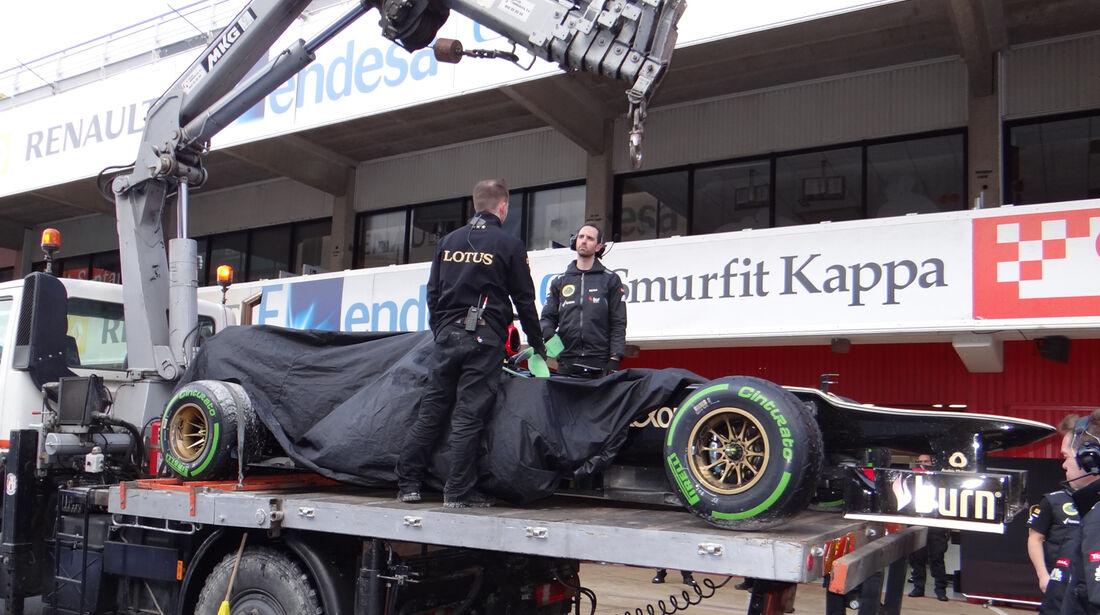 Romain Grosjean - Lotus - Formel 1 - Test - Barcelona - 28. Februar 2013