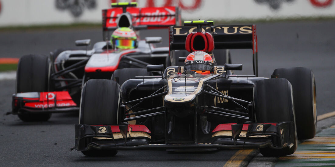 Romain Grosjean Lotus GP Australien 2013