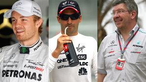 Rosberg, Glock & Brawn