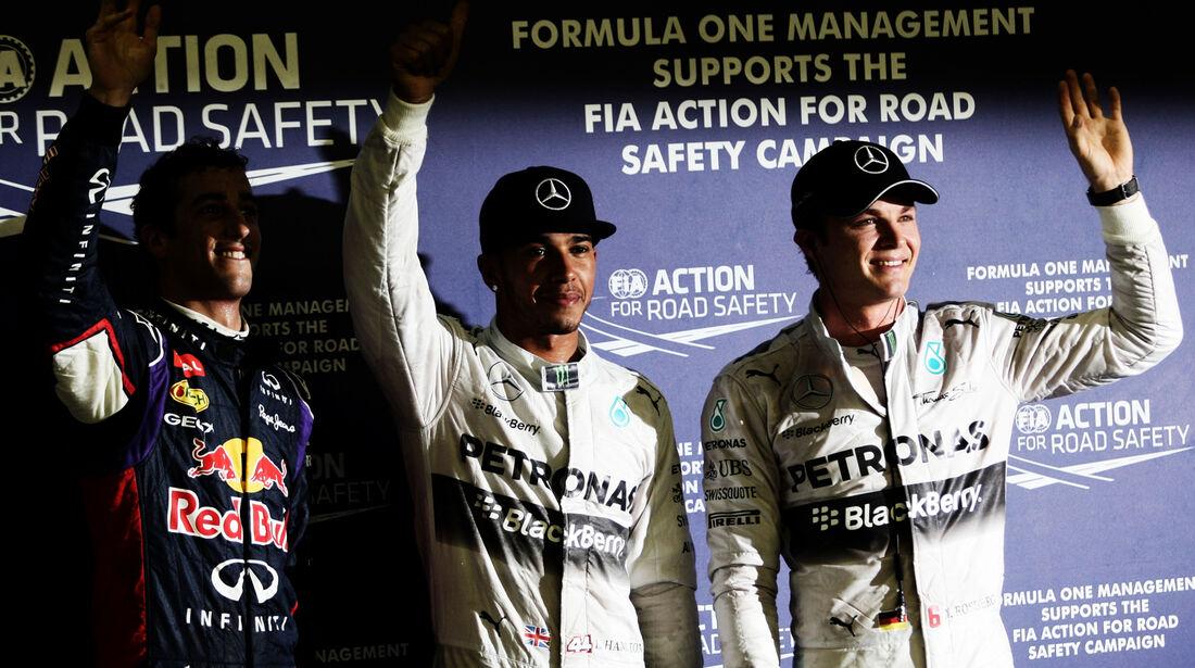 Rosberg, Hamilton & Ricciardo - Formel 1 - GP Singapur - 20. September 2014