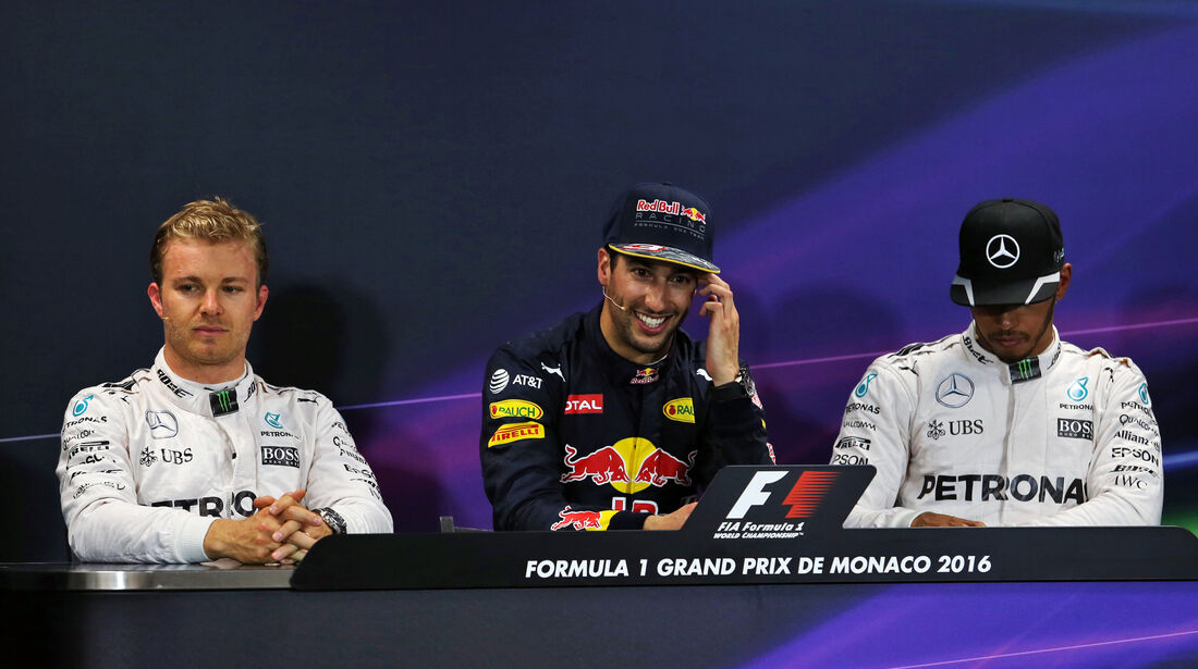Rosberg, Ricciardo & Hamilton - GP Monaco - Formel 1 - 28. Mai 2016