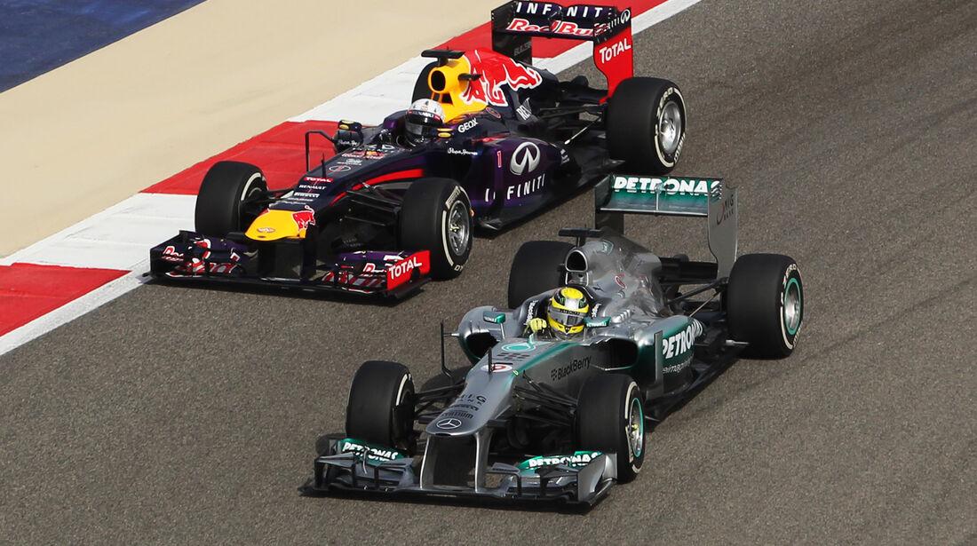 Rosberg & Vettel - GP Bahrain 2013