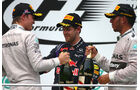 Rosberg, Vettel & Hamilton - GP Malaysia 2014
