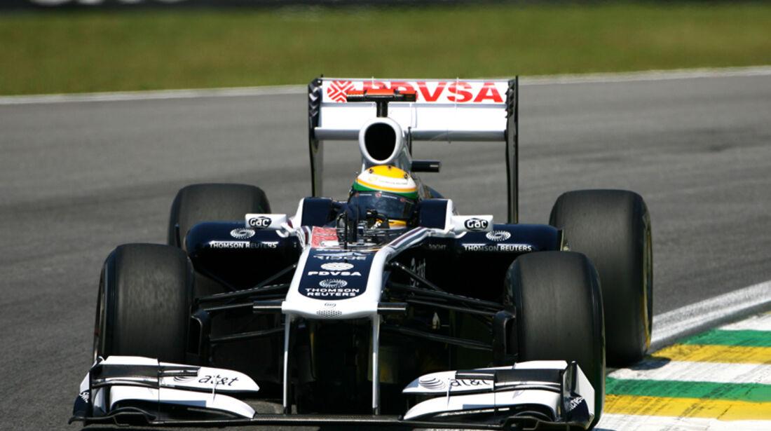 Rubens Barrichello Helm GP Brasilien 2011