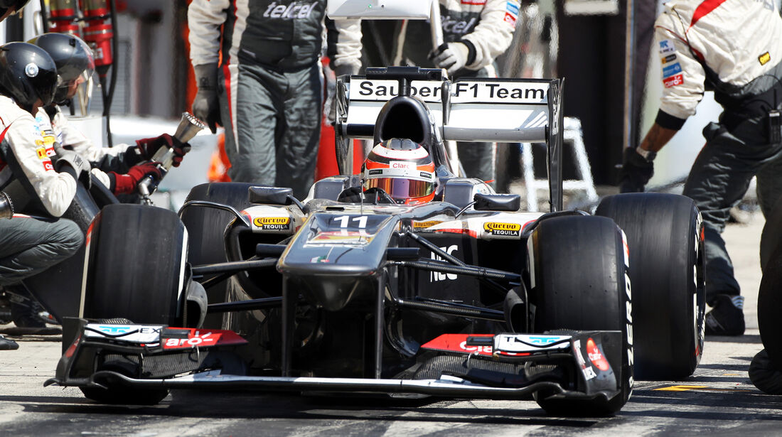 Sauber - Boxenstopp - Formel 1 2013