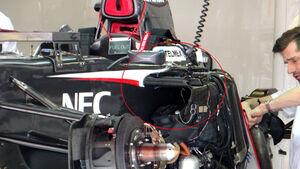Sauber Crashtruktur Seite 2013