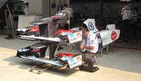 Sauber Frontflügel  - Formel 1 - GP Indien - 25. Oktober 2012