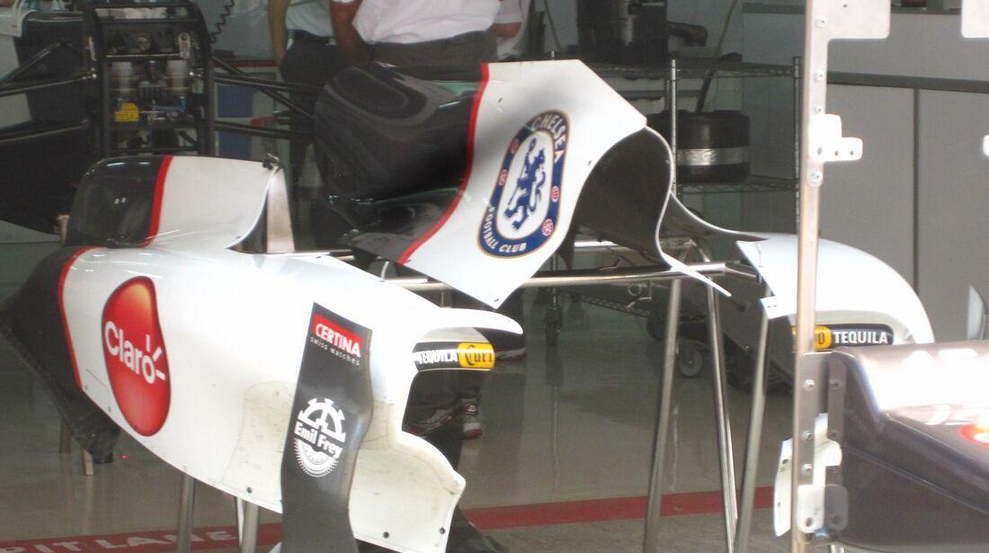 Sauber Motorabdeckung  - Formel 1 - GP Indien - 25. Oktober 2012