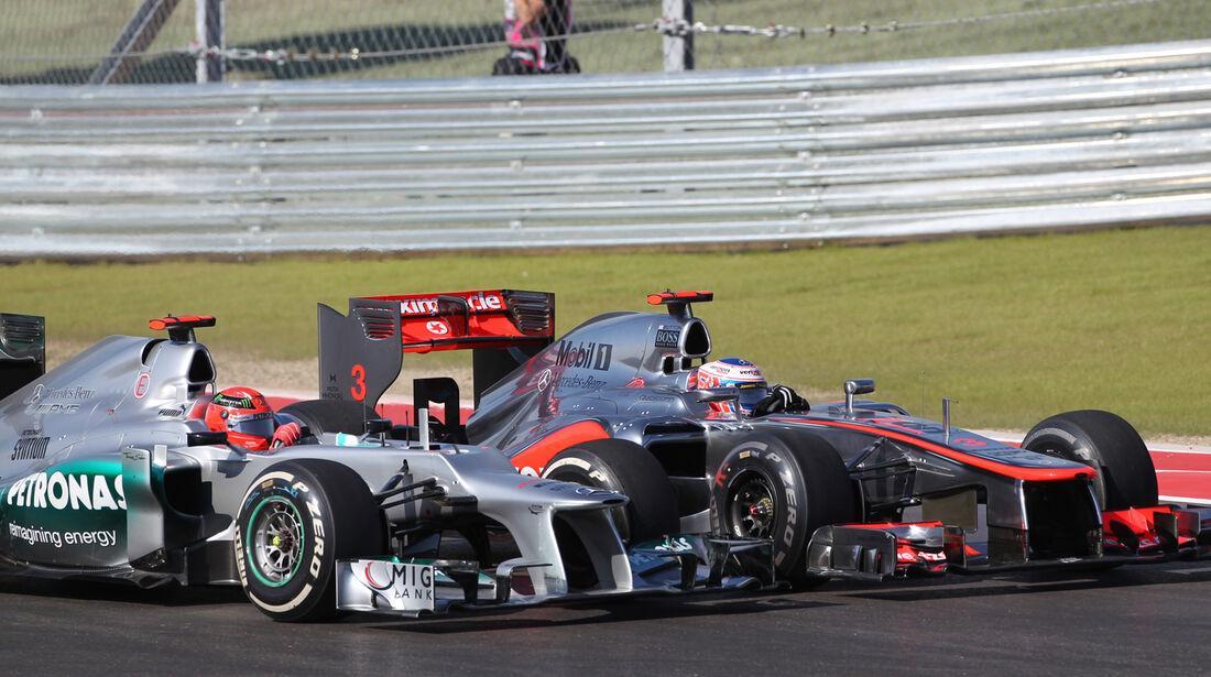 Schumacher Button GP USA 2012