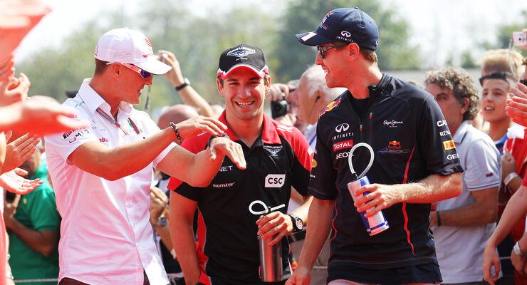 Schumacher, Glock & Vettel GP Italien 2012