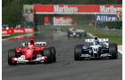 Schumacher Montoya 2004 GP Belgien