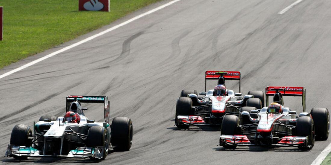 Schumacher vs. Hamilton GP Italien Monza 2011