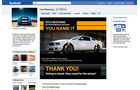 Screenshot,  Autohersteller auf Facebook, Ford-Mustang
