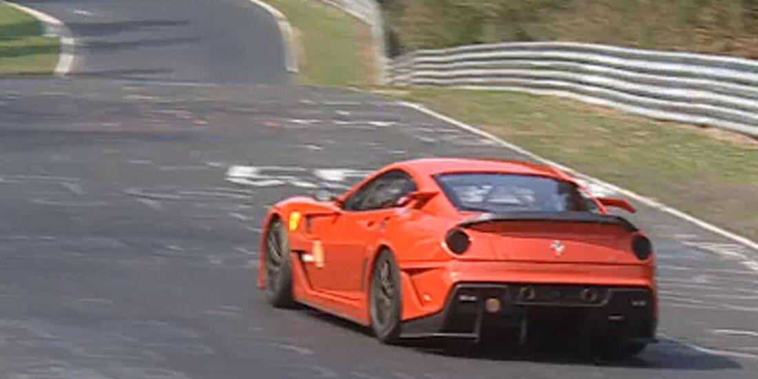 Screenshot Ferrari 599XX Nuerburgring-Rekordrunde
