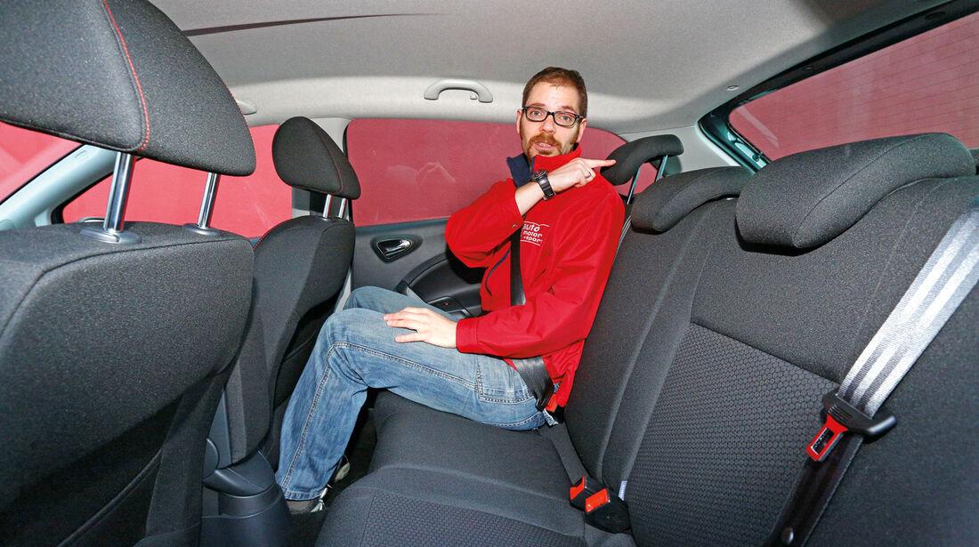Seat Ibiza ST 1.6 TDI, Rücksitz, Beinfreiheit