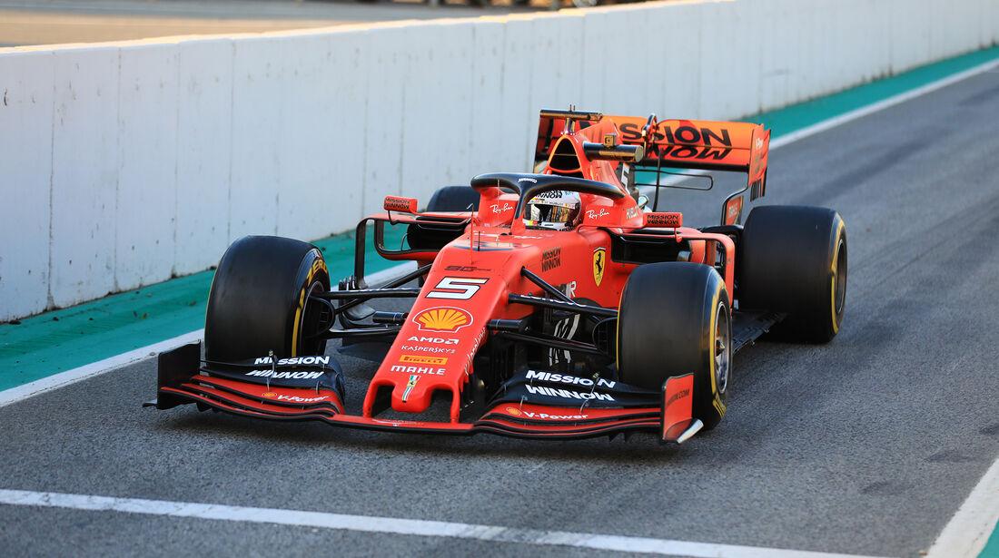 Sebastian Vettel - Ferrari - Barcelona - F1-Test - 26. Februar 2019