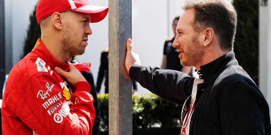 Sebastian Vettel - Ferrari - Christian Horner - Red Bull - GP Australien 2018 - Melbourne - Albert Park - Donnerstag - 22.3.2018