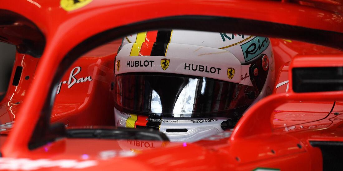 Sebastian Vettel - Ferrari - Formel 1 - GP Bahrain - Training - 6. April 2018
