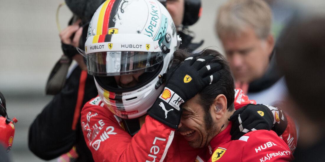Sebastian Vettel - Ferrari - Formel 1 - GP China - Shanghai - 14. April 2018