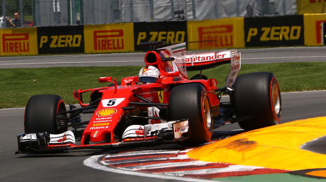 Sebastian Vettel - Ferrari - Formel 1 - GP Kanada - Montreal - 10. Juni 2017